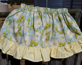 Girls Flower Skirt with Ruffles
