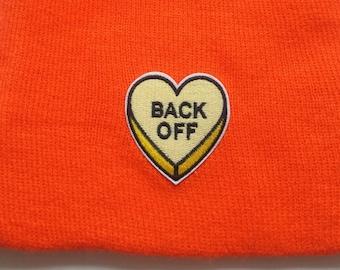 Neon Orange Back Off Beanie