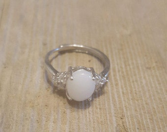 Breastmilk ring with cz's