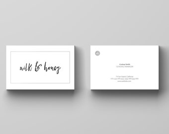 Business Card Design - Business Card Template - Premade Business Card - Personal Business Card