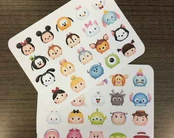 Tsum tsum Disney stickers