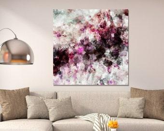 Pink Abstract Art, Abstract Art Prints, Modern Print, Pink Art Prints, Canvas Print of an Original Pink Painting, Minimalist Pink Wall Art