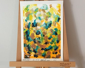 Tumble - Original Abstract Acrylic Painting on A5 Watercolour Paper