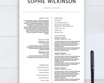 minimalist resume template clean cv template for word two pages resume professional resume - Minimalist Resume Template