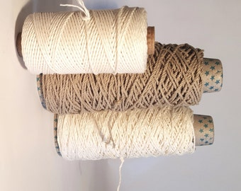 Pure Natural Linen Yarn, Very Strong Pure Linen Cord, Undyed Linen Yarn - Macrame, Warping, Tapestry Warp, Knotting, Braiding, Tasselmaking