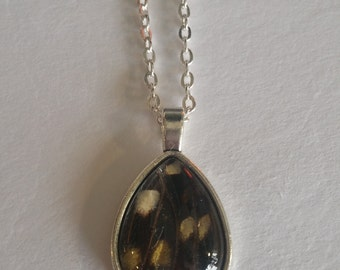 Black and Yellow Teardrop Necklace