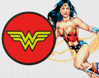 Wonder Woman Patch machine embroidery design. DC Superhero. Justice League embroidery. Embroidery file