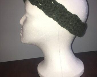 Green Crochet Head Band