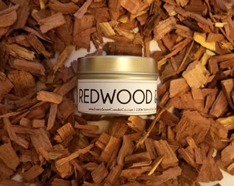 REDWOOD & CEDAR Candle - Man Candle - Soy Candle - Wax Melts - Tealights - Scented Candle - Gold Candle - Luxury Candle - 1oz - 4oz - 8oz