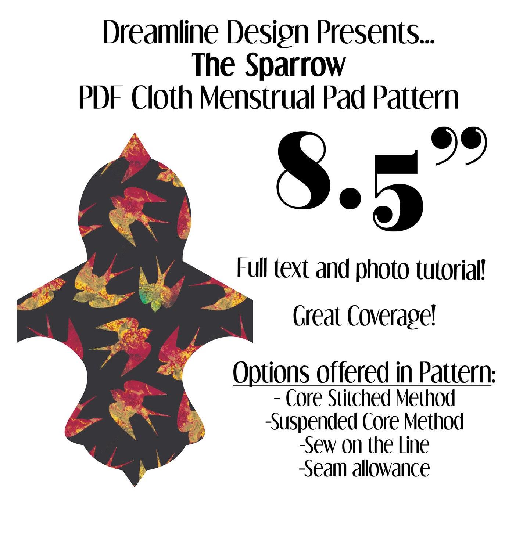 Sparrow Mini 8 5 Quot Cloth Menstrual Pad Pattern Pdf