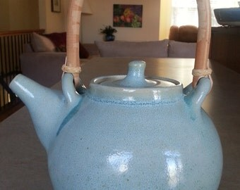 Handmade Celadon Teapot, Pottery Teapot, Stoneware Teapot, Handmade Pottery Teapot, teapot, Ceramic Teapot