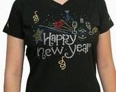Rhinestone New Year Shirt, bling bling shirts, bling new year's  shirts, rhinestone bling shirts, rhinestone tshirts, bling t shirt