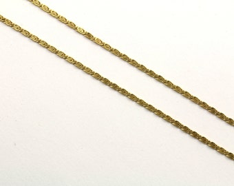 14K Yellow Gold Scroll Chain Necklace  GNC 162-E