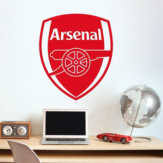 Vinyl Wall Decal - Arsenal Soccer Football team logo Wall Sticker School Sports Wall Decals For Boy kids room Bedroom