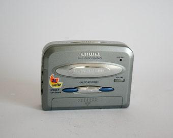 Aiwa PX - 117 Vintage HS Portable Cassette Player Walkman - Silver