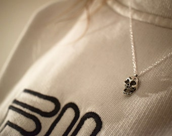 Sterling Silver 925 Skull pendant necklace