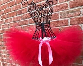 Red Tutu, Baby Tutu, Valentines Tutu, Birthday Tutu, Baby Photo Prop, Valentine's day Tutu