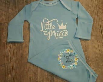 Newborn,  Little Prince Onesie, Baby Bodysuit, Gown or Tshirt