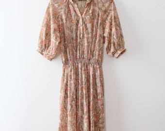 vintage 1970s dress // 70s sheer day dress