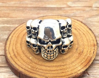 New Biker Skull Ring