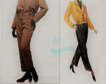 Vintage Yves Saint Laurent Vogue Paris original sewing pattern 1226 - lined jacket and straight leg pants
