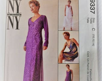 McCall's sewing pattern 9337 - Misses' bias dress, attached slip and shrug