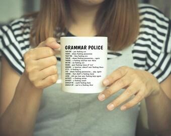 Funny Grammar Mug, Funny Grammar Gift, Gramma Gift, Grammar Mug, Grammar Police Mug, Grammar Police, Gift For Grammar Mug, Funny Coffee Mug