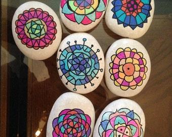 Mandala Stones (set of seven)