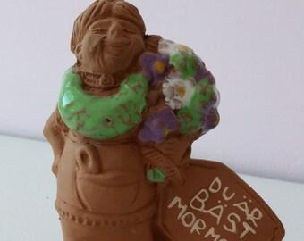 Swedish mormor figurine, Jie Gantofta, grandmother gift, home decor, Scandinavian