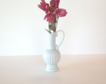 White Ceramic Bud Vase