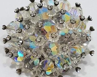 Sparkly!!!  Beautiful AB Crystal Brooch with Rhinestones
