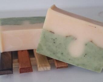 Gingergrass Natural Body Soap - shea butter, mango butter, silk soap