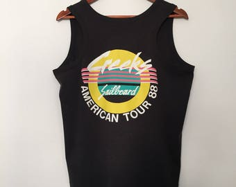 Creeks / vintage tank top / surfer clothing / sports clothing / 80s tshirt / black tank top / unisex tshirts / spring break tank