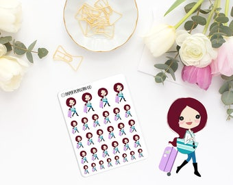 Eva Travels - Planner and Scrapbooking Stickers