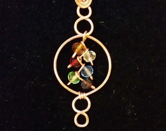 Circles of Life Copper Pendant