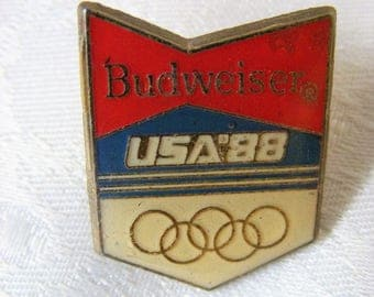 lapel pins, Budweiser, Enamel pin, Olympic, Enamel pin brooch, Jacket pin, USA, Budweiser gifts, Tie pin, collectibles, Memorabilia