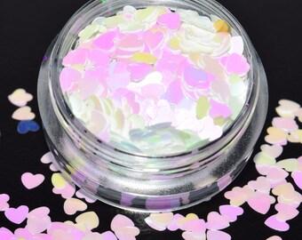 100 g/93,33 EUR - bag glitter heart heart GlitzerPulver Hexagon 3 g tinker sparkle iridescent new