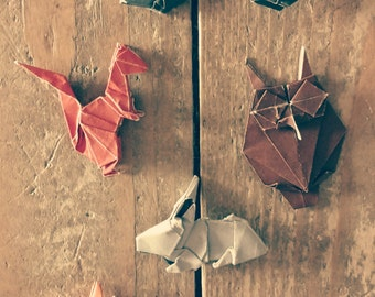 Miniature Origami Animals - Forest Creatures Selection