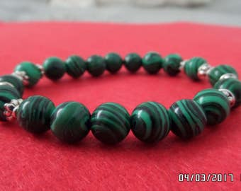 Elastic of stone Natural Malachite Malachite jewelry, bracelet