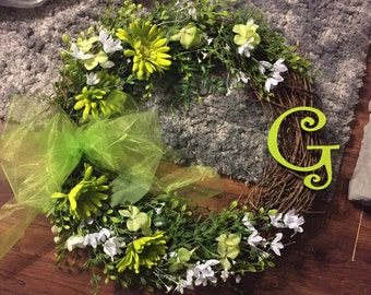 Lime Green Wreath