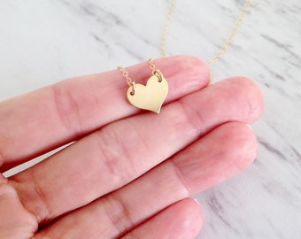Gold Heart Necklace | Heart Necklace | Simple Dainty Necklace