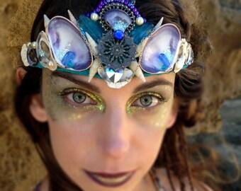 Mermaid Crown in Purple and Teal
