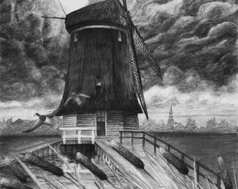Dutch Storm, Art Print, Fine art print, Holland Print