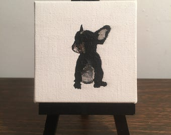 3/3 'ChuloTheFrenchie' (original painting) - Mini Canvas - Home Decor