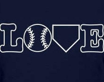 LOVE Baseball/Softball Decal