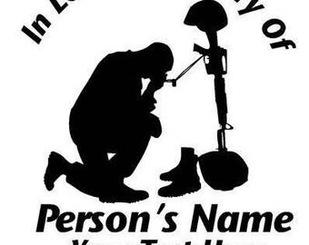 In Loving Memory Decal : Military