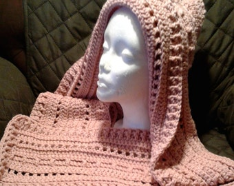 SOFT ROSE Hooded Scarf