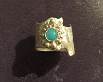 Sterling Silver & Amazonite Ring