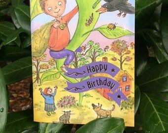 Jack & the Beanstalk Birthday card