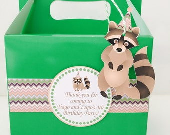 Raccoon Party Favour Box
